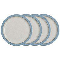 Denby Elements 4 Medium Plates Blue