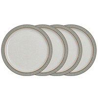 Denby Elements 4 Medium Plates Grey