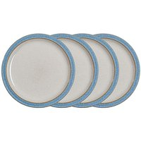 Denby Elements 4 Dinner Plates Blue