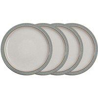 Denby Elements 4 Dinner Plates Grey