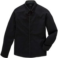 Black Plain Front Party Shirt