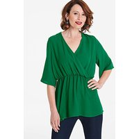 Green Kimono Wrap Blouse