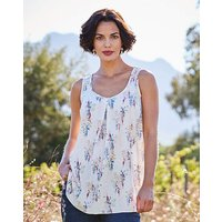 Floral Print Sleeveless Vest Top