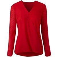 Red Dobby Sleeve Wrap Shirt