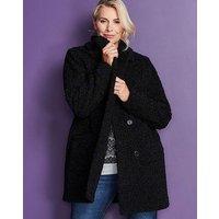 Black Teddy Faux Fur Coat
