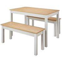 Fashion World Jaxson Dining Set with 2 Benches