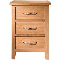 Harrogate Oak 3 Drawer Bedside Table