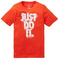 Nike Older Boys Dry Fit Just Do It T-Shi