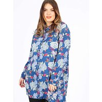 Koko Blue Floral Print Long Sleeve Shirt