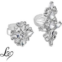 Lipsy Crystal Ring Set