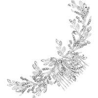 Jon Richard Crystal Leaf Sprig Hair Comb