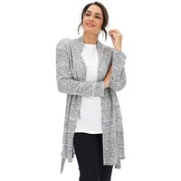Grey Marl Knit Look Cardigan
