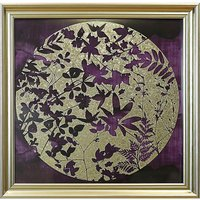 Arthouse Foil Leaves Print Glass Fr Prnt