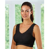 Comfort Bra With Lace Supporter Pk 2