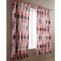 Cordelia Patchwork Pencil Pleat Curtains