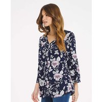 Julipa Zip Front Print Blouse.