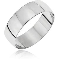 9ct White Gold D Shape Wedding Band at JD Williams Catalogue