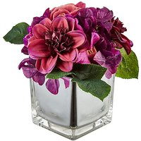 Purple Flower with Mirrored Vase