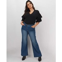 24/7 Blue Wide Leg Jeans