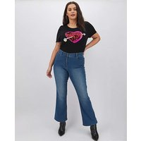 24/7 Blue Bootcut Jeans Petite