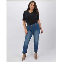 24/7 Blue Straight Leg Jeans Long