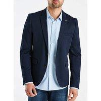 Burton London B&T Navy Jersey Blazer