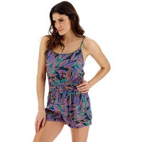 Leaf Print Beach Playsuit