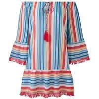 Bardot Stripe Beach Tunic