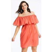 Basic Cotton Bardot Beach Dress