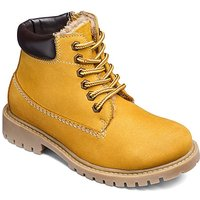 Boys Leather Lace Up Hiker Boots