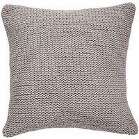 Knitted Grey Cushion