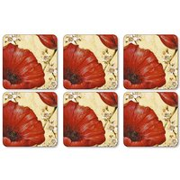 Pimpernel Poppy De Villeneuve Coasters