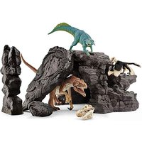 SCHLEICH Dinosaurs Dino Set with Cave.