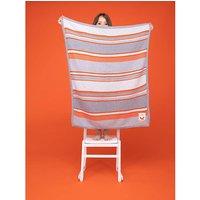 Cosatto Knitted Blanket Grey Orange.