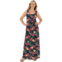 Floral Print Vest Maxi Dress