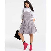 Pink Check Pinafore Dress