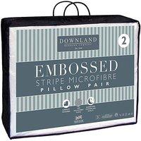 Microfibre Embossed Pillow Pair