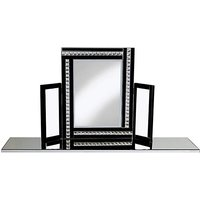 Crystal Black Dressing Table Mirror