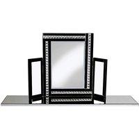 Crystal Black Dressing Table Mirror