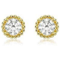 9 Carat Gold Halo Stud Earrings.