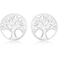 Sterling Silver Tree of Life Earrings.