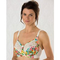 Miss Mary Flower Print Non Wired Bra