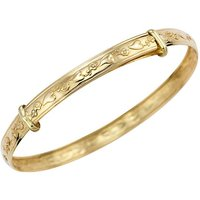 9ct Gold Heart Flower Expander Bangle