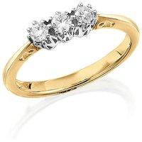 9 Carat Gold 1/4ct Diamond Trilogy Ring