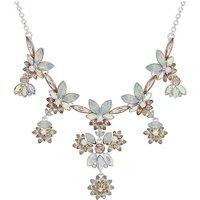 Mood Crystal Floral Cluster Necklace