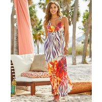 Joanna Hope Placement Print Maxi Dress