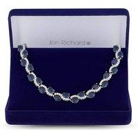 Jon Richard Cubic Zirconia Wave Necklace