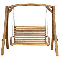 Charles Bentley Larch Wood Swing Seat