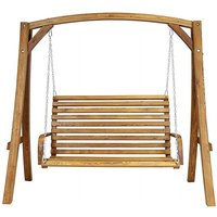 Charles Bentley Larch Wood Swing Seat