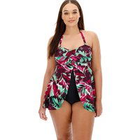 MAGISCULPT Twist Open Front Swimdress